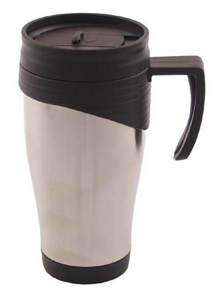 Tasse, Edelstahl, doppelwandig, 400 ml