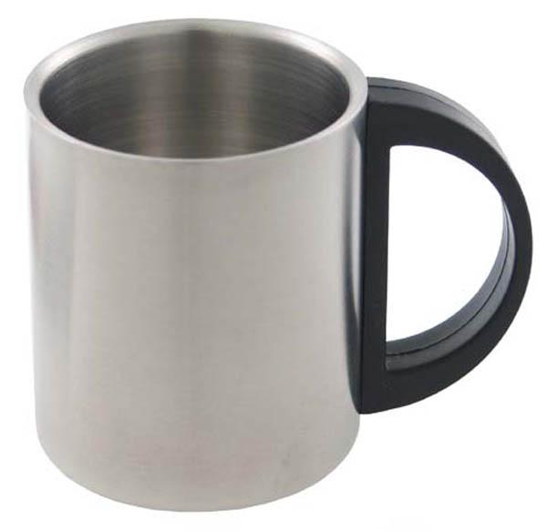 Tasse, Edelstahl, doppelwandig, 220 ml