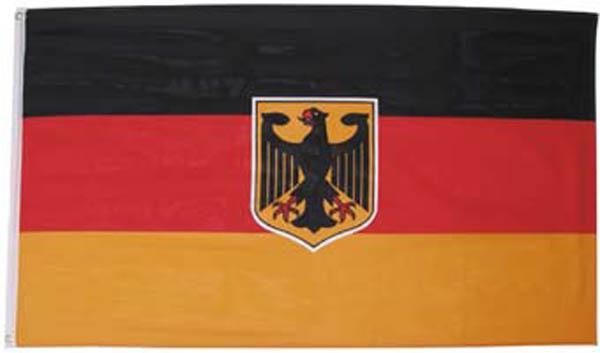Fahne, Deutschland mit Adler, Polyester