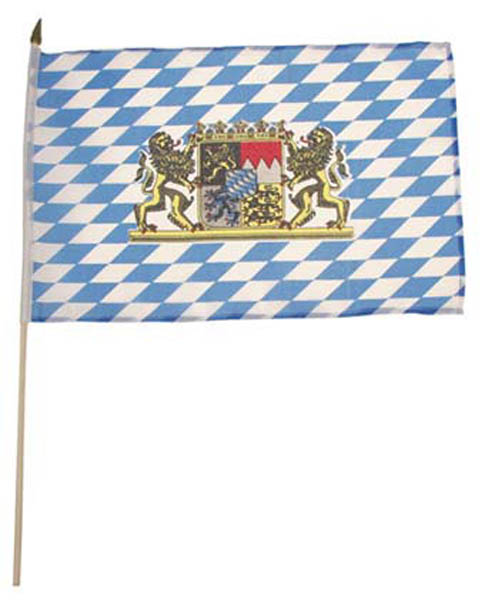 Fahne, Bayern mit Wappen, Polyester an