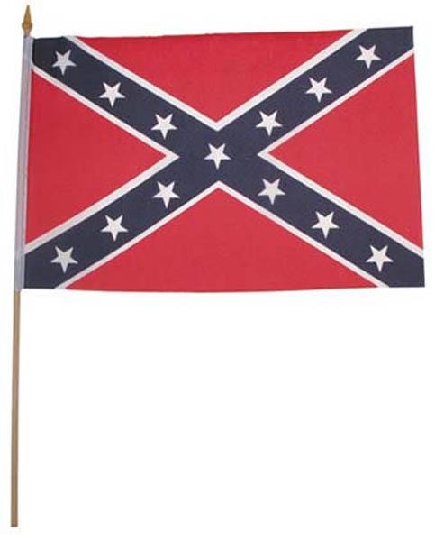 Fahne, Südstaaten,Polyester an Holzstiel
