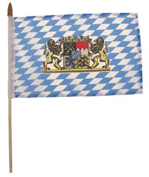 Fähnchen, Bayern mit Wappen, an