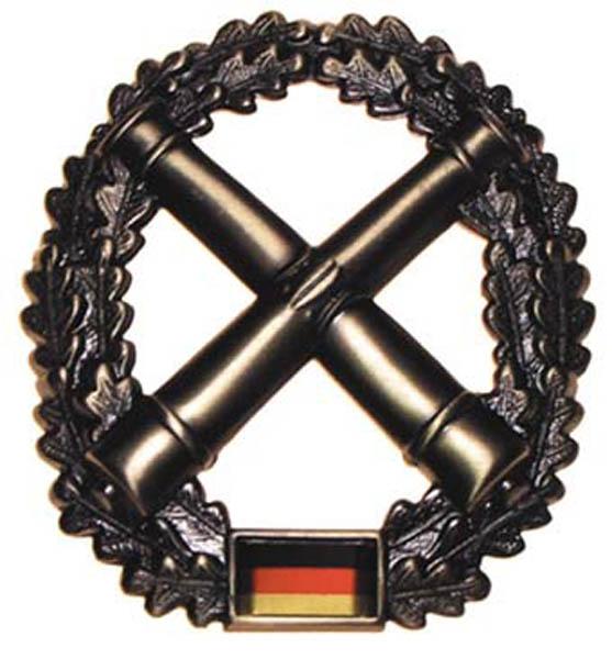 BW Barettabzeichen, -Artillerie-, Metall,gebraucht