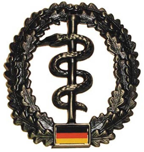 BW Barettabzeichen, -Sanitäter-, Metall,gebraucht