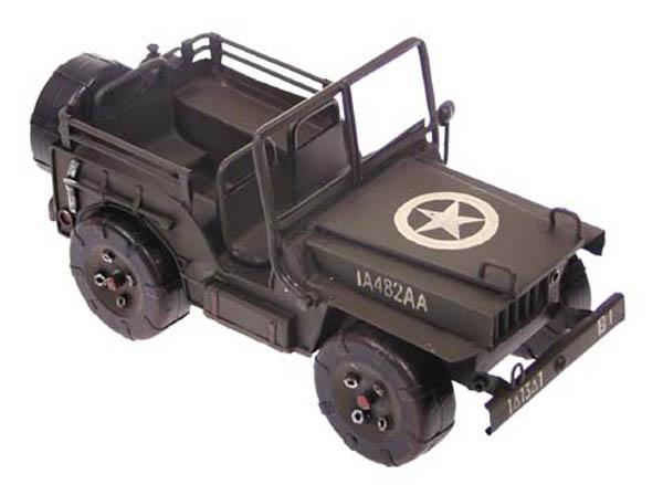 Jeep-Dekomodell, Metall,