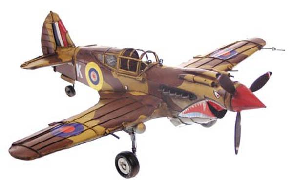 Flugzeug-Dekomodell, Metall,Tiefdecker