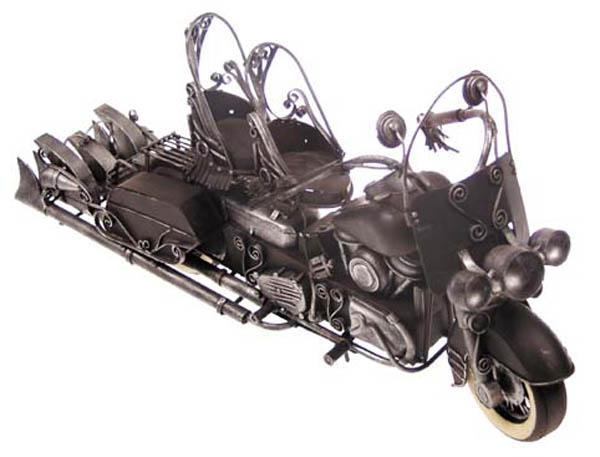 Motorrad-Dekomodell, Metall, -Harley-