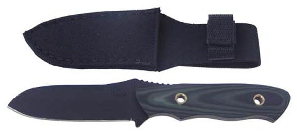 Messer, feststehende Klinge schwarz