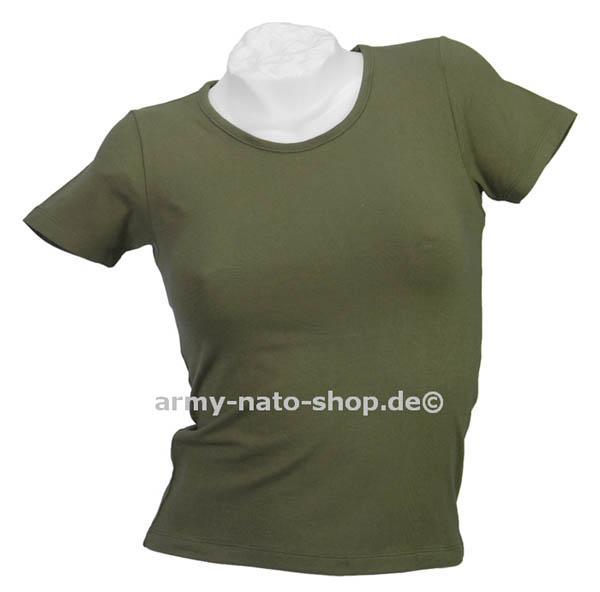 T-Shirt (Damen),Stretch oliv neu