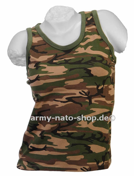 Tank-Top (Damen),Stretch woodland neu