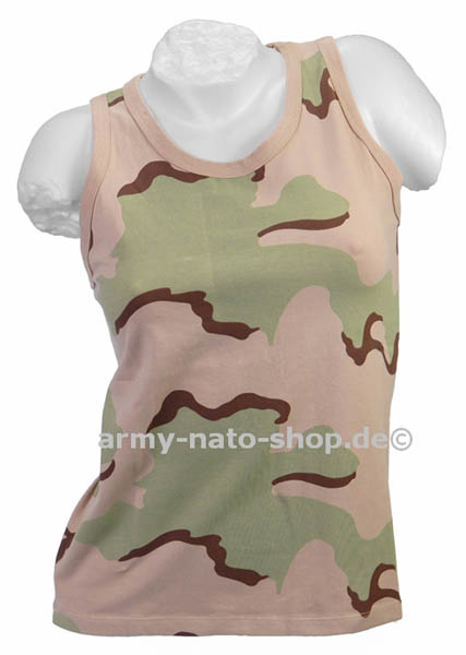 Tank-Top (Damen),Stretch 3-Farben desert neu