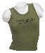 Tank-Top (Damen),Stretch oliv mit Aufdruck neu