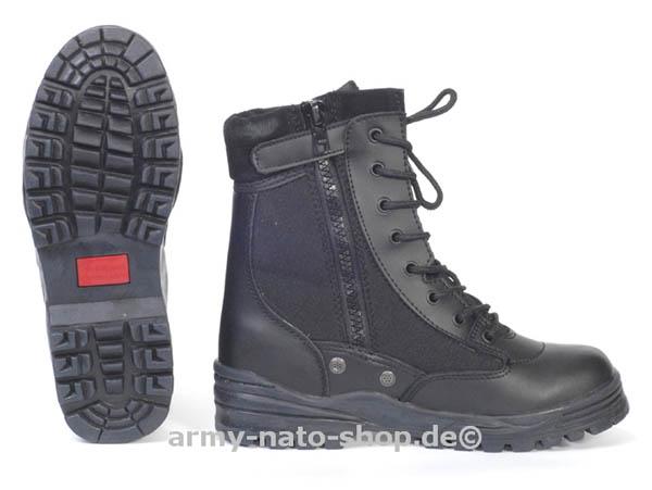 Patriot-Stiefel m. RV,schwarz neu