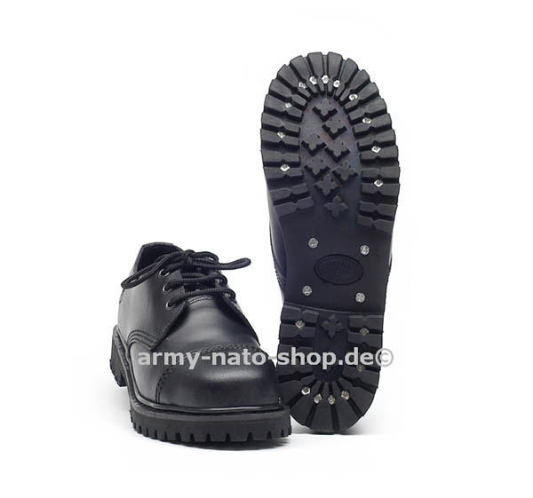 Knightsbridge-Shoes, 3-Loch mit Stahlkappe schwarz neu