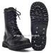 Knightsbridge-Boots, 10-Loch mit Stahlkappe schwarz neu