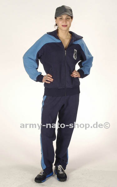 Trainingsanzug,Bw blau gebraucht/rep
