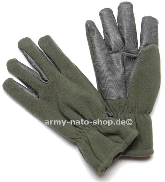 Fleece-Handschuhe ´Alpina´mit Besatz oliv neu,