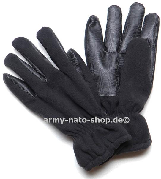 Fleece-Handschuhe ´Alpina´,mit Besatz schwarz neu