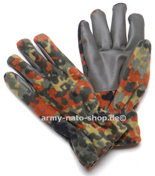 Fleece-Handschuhe Alpina,mit Besatz flecktarn neu