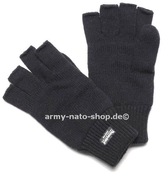 Strickhandschuhe ohne Finger,Thinsulate schwarz neu