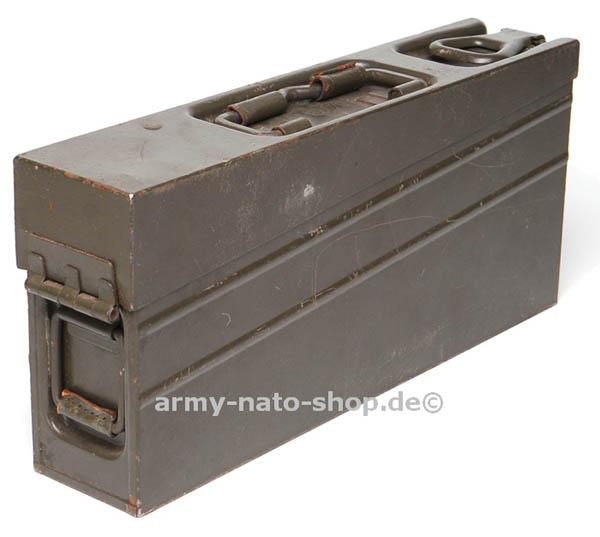 Munitionskiste (Metall),Bw MG 3 oliv gebraucht