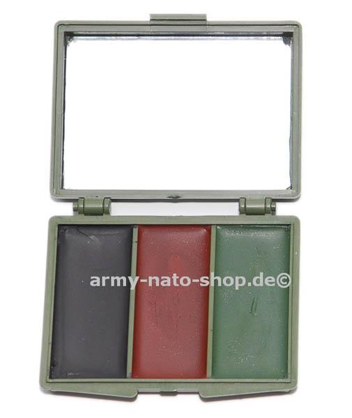 Tarn-Schminkset mit Spiegel,3-Farben neu