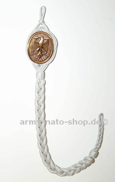 Schützenschnur mit Plakette,orig. Bw Bronze neu