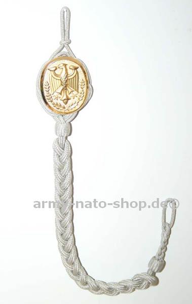 Schützenschnur mit Plakette,orig. Bw Gold neu