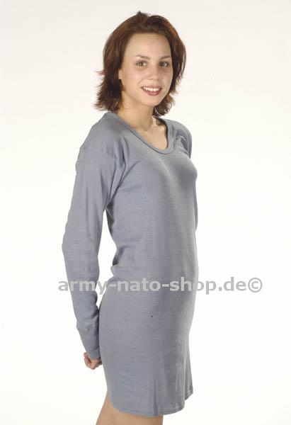 Unterhemd,DDR-VoPo blau langarm neu