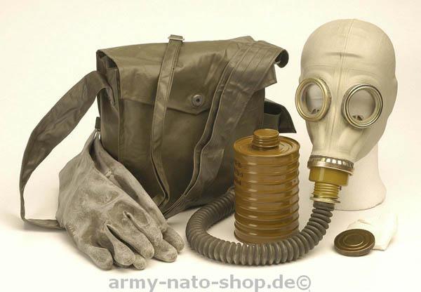 ABC-Schutzmaske, NVA M41 neuw. (mit Umhängetasche, Maskenkörpe..
