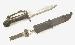 Kampfmesser, NVA AK 47 gebraucht