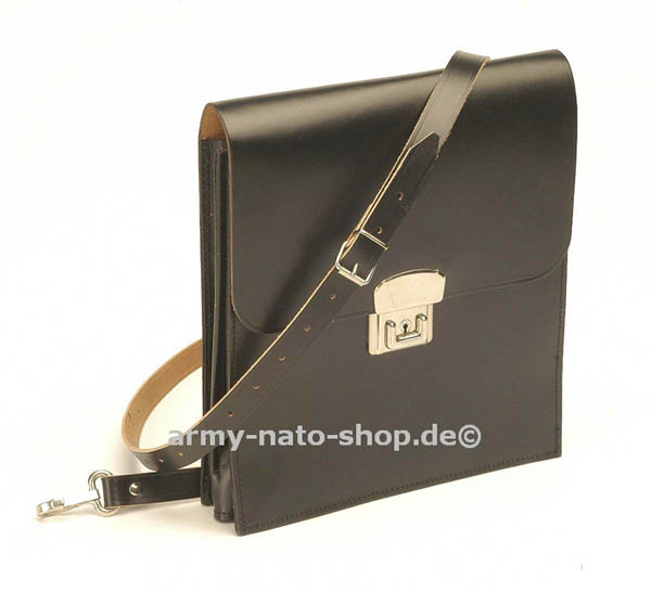 Kartentasche,NVA Leder schwarz neuw.