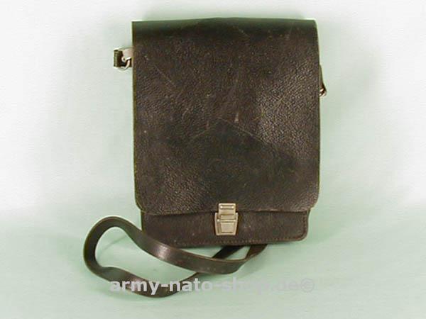 Kartentasche, NVA Leder schwarz gebraucht
