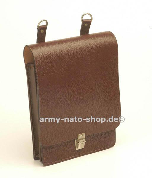 Kartentasche, NVA Leder braun gebraucht