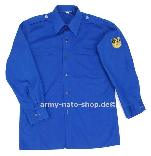 Uniformhemd,DDR FDJ blau gebraucht,