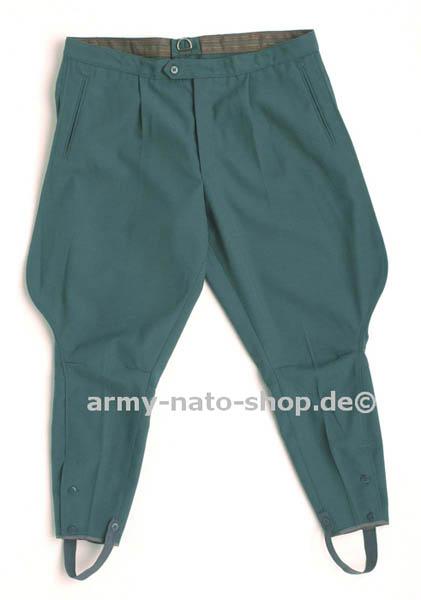 Stiefelhose (Gabardine), DDR-VoPo grün gebraucht
