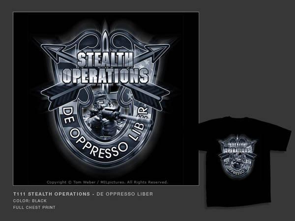 T-Shirt MILpictures, schwarz, bedruckt, T111