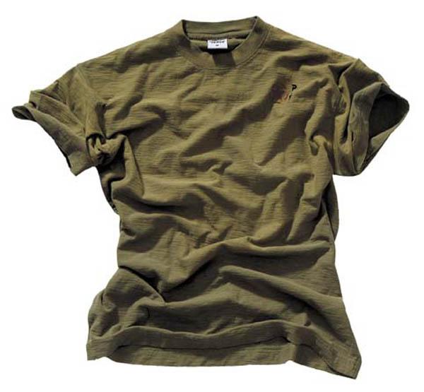 T-Shirt, halbarm, Vintage, Pure Trash, heavy, oliv