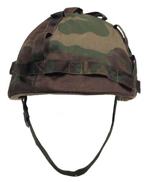 US Helm Kunststoff, mit Stoffbezug woodland