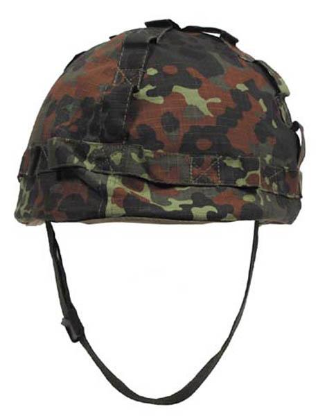 US Helm Kunststoff, mit Stoffbezug flecktarn