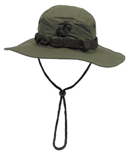 USMC Buschhut, Kinnband, oliv, Boonie, Rip Stop