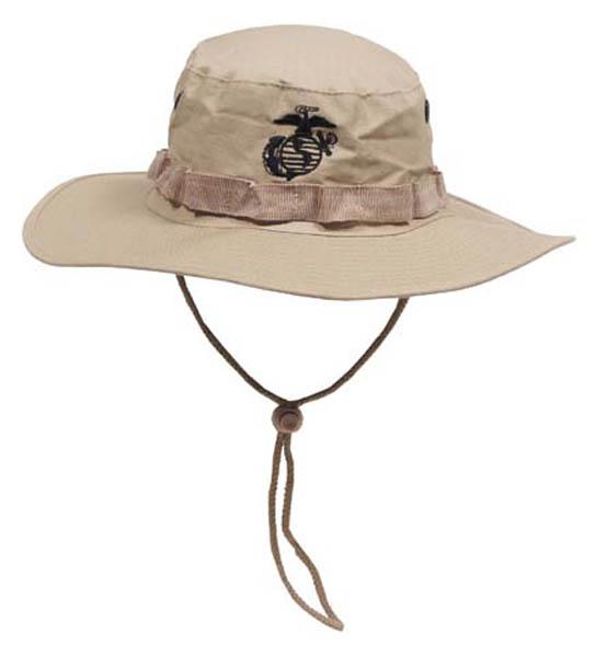 USMC Buschhut, Kinnband, khaki, Boonie, Rip Stop