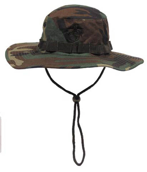 USMC Buschhut, Kinnband, khaki, Boonie, woodland