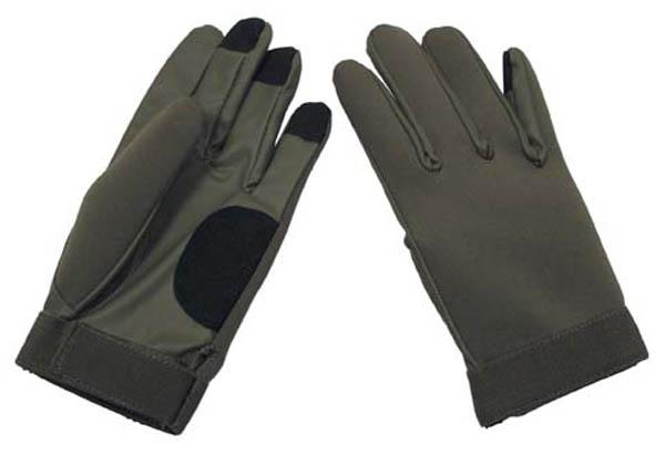 Neopren Fingerhandschuhe, oliv