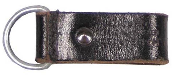 Öster. Lederschlaufen, 4 cm, mit Aluring, gebr.