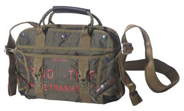 Handtasche mit Schultergurt, klein, Nylon, PT, oliv