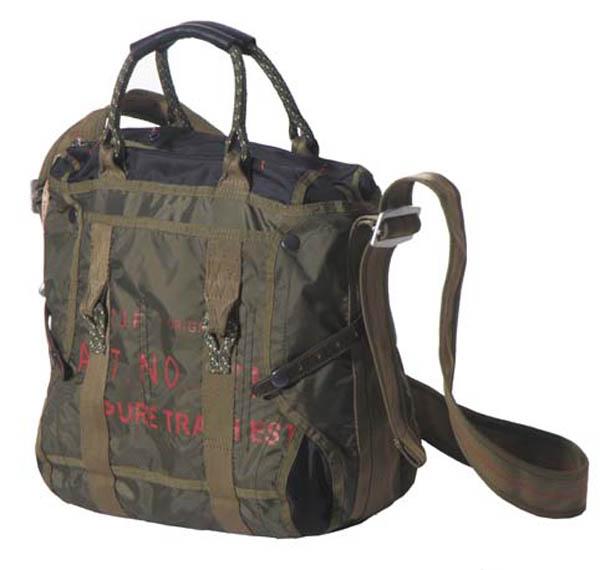 Handtasche mit Schultergurt, mittel, Nylon, PT, oliv