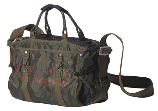 Handtasche mit Schultergurt, groß, Nylon, PT, oliv