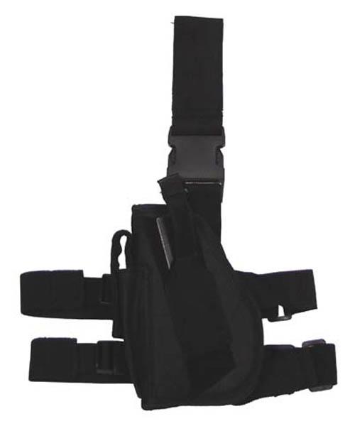 Pistolenbeinholster, linkes Bein, schwarz, Bein- und