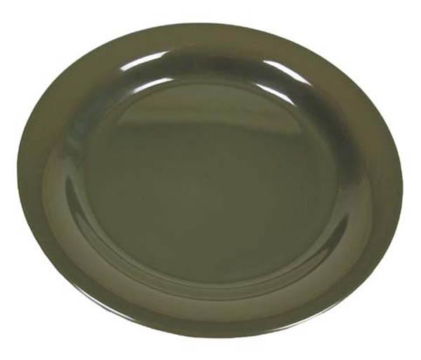 Teller, Melamine, 25 cm, oliv